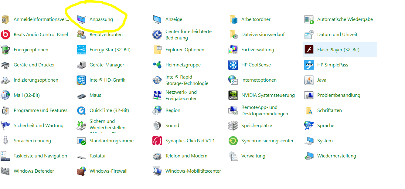 Desktop-Ansicht in Windows 10 ändern.