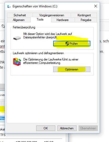 Reinigungs System / Windows 10
