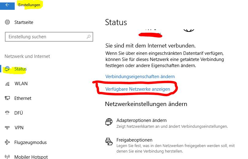 Windows  zeigt keine WLAN Netze an