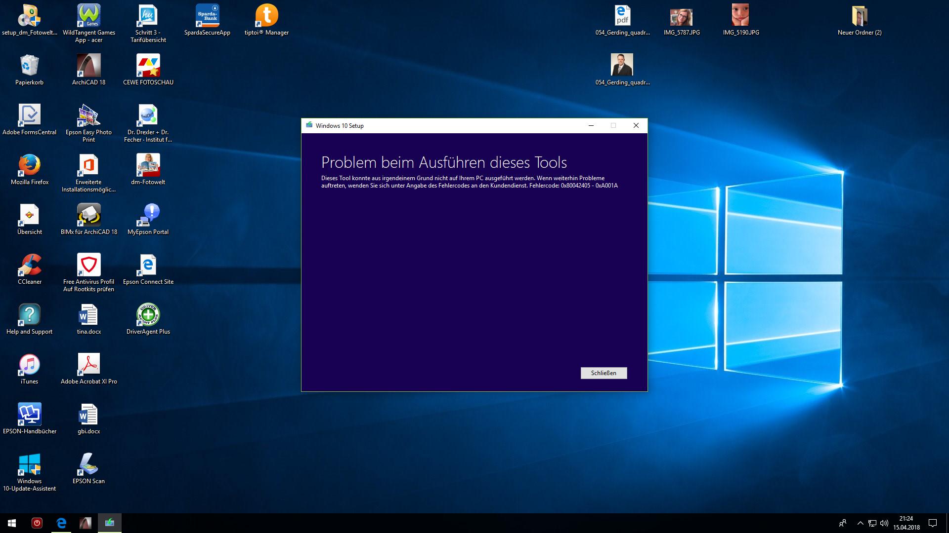 Update für Windows 10 Version 1709 für x64-basierte Systeme (KB4093112) wird nicht installiert