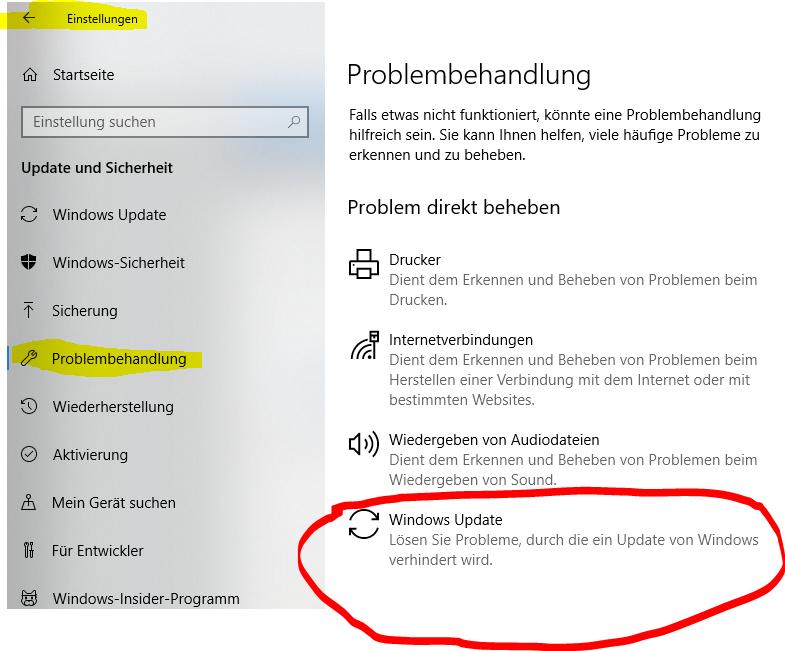 kann keine Updats installieren,( Fehler 0x80070015 )
