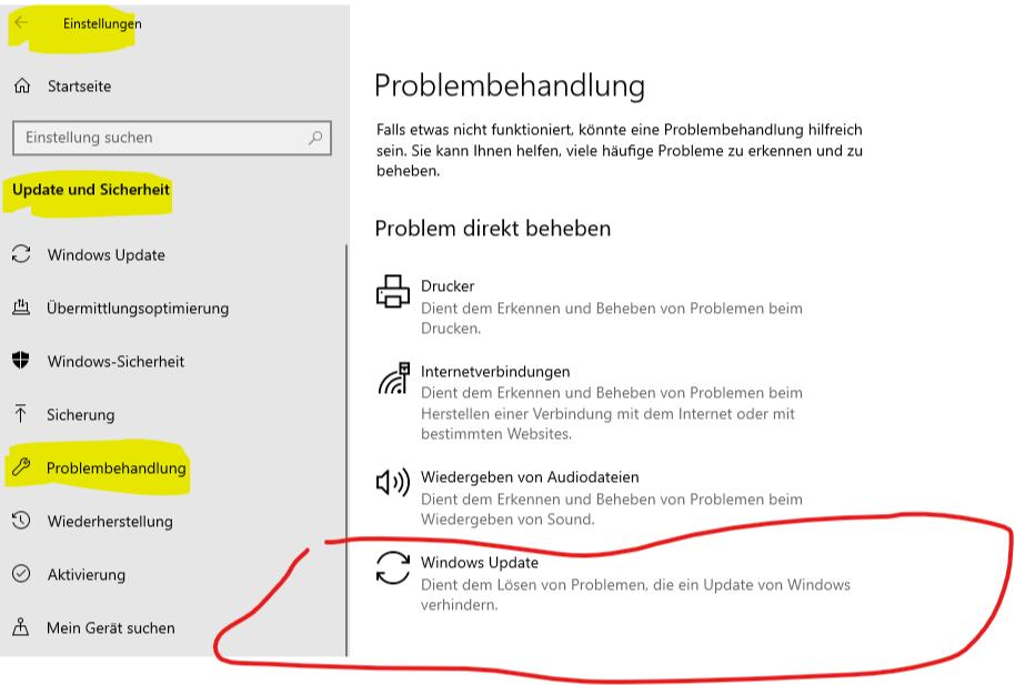 Windows10 Update, version 1511,hängt beim Installieren,54%