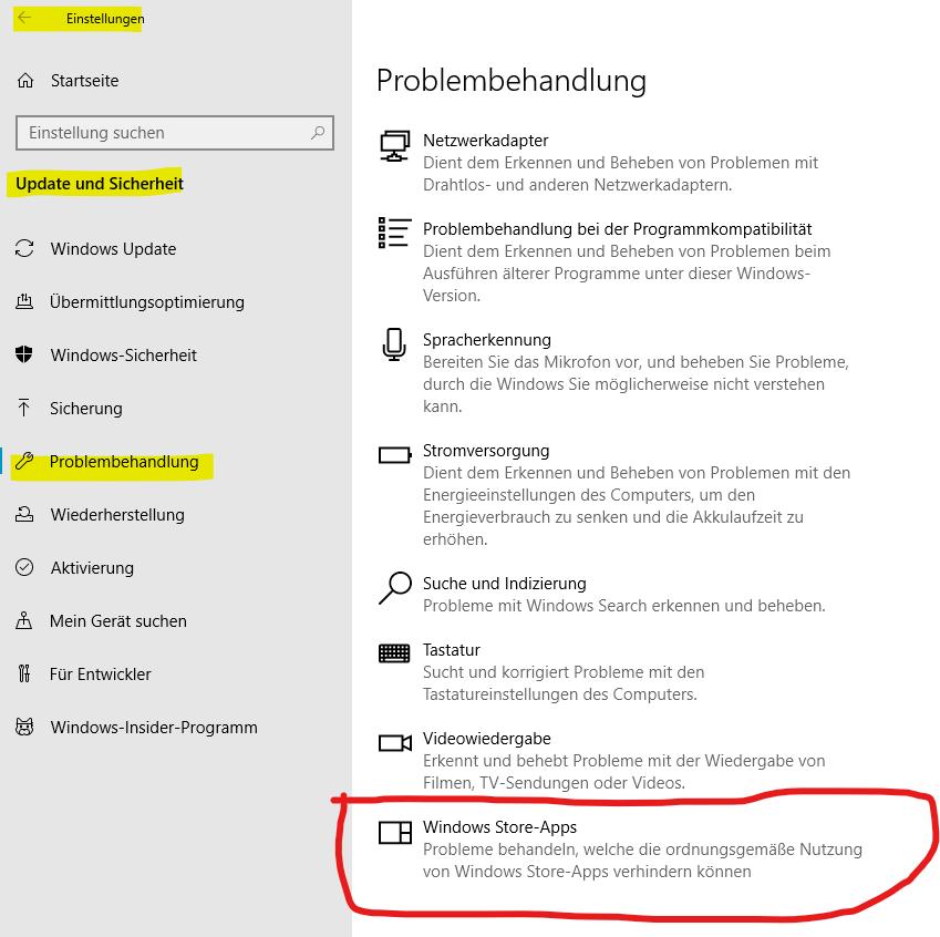 Microsoft Apps lassen sich nicht mehr öffnen