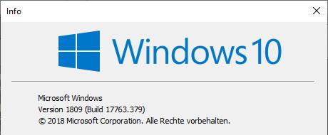 Funktionsupdate für Windows 10, Version 1809 amd64 2019-03 am 29.03.2019