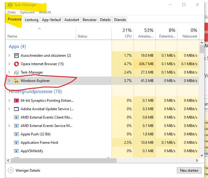 Windows Explorer reagiert nicht