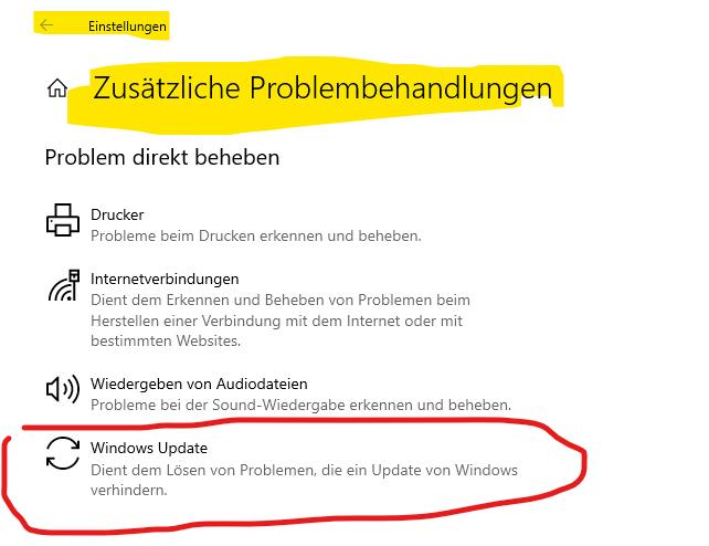 Keine Windows Updates mehr?