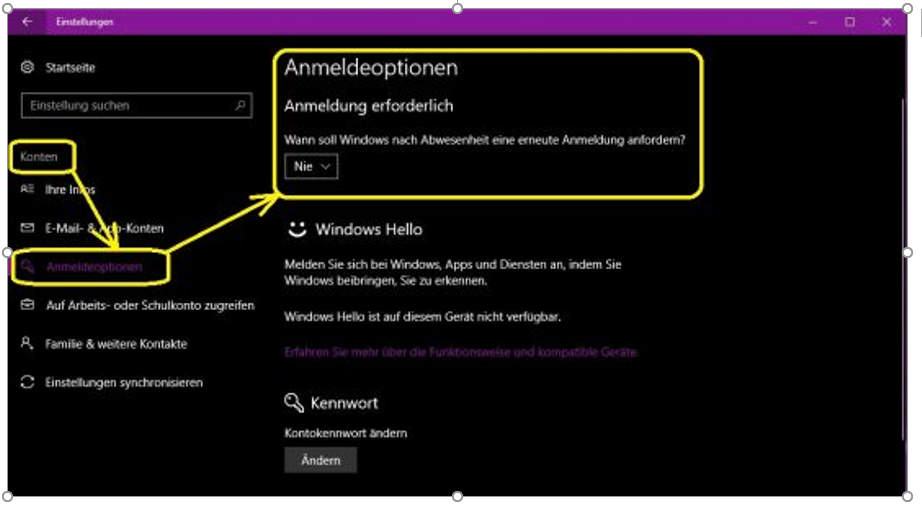 Windows Anmeldung