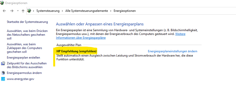 Welchen energiesparplan?