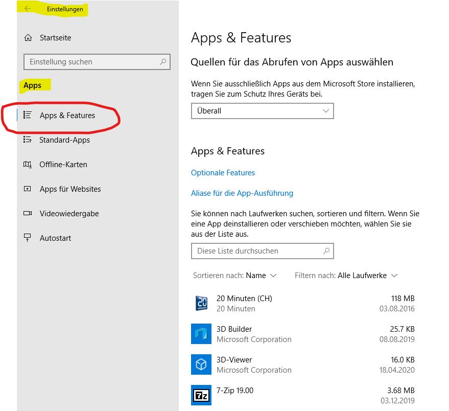 Windows 10 wo finde ich meine Programme?