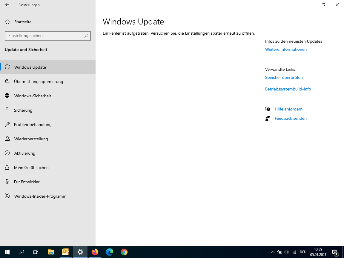 Win 10 Update ohne Funktion