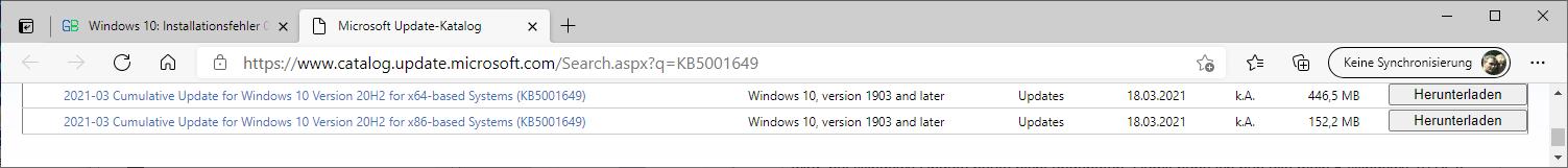 Update-Fehler 0x800f081f