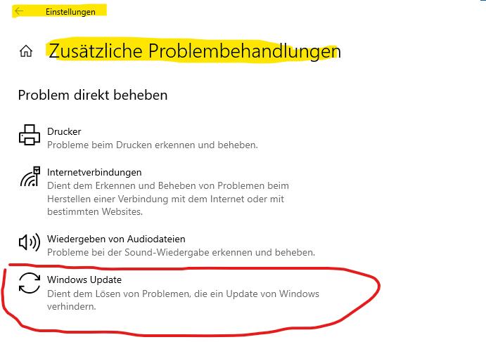Funktionsupdate für Windows 10, Version 20H2 bricht ab bei 100% mit Fehlermeldung 0x8007025d