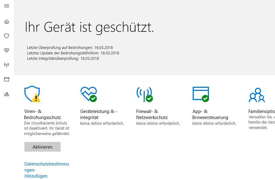 .bin-Dateien bei Windows Defender als zulässige App hinzufügen