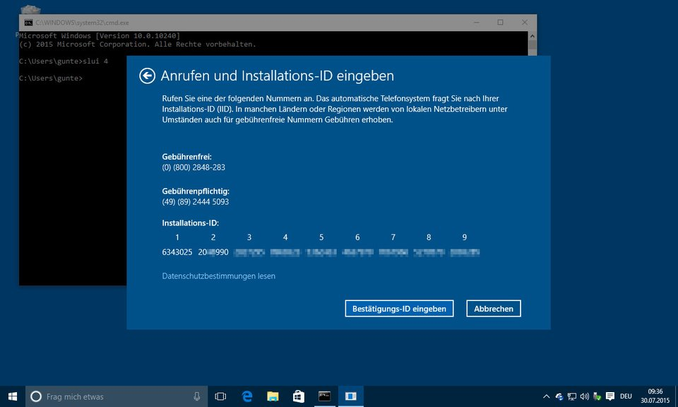 Windows 10 Pro Aktivierung mit Windows 10 Pro OEM Key funktioniert nicht