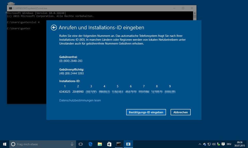 Windows 10 lässt sich nach Hardwareänderung nicht reaktivieren (Fehlercode: 0xc004C003)
